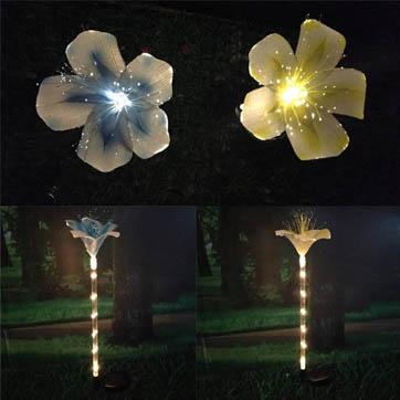 оптички влакна цвет декорација светлина