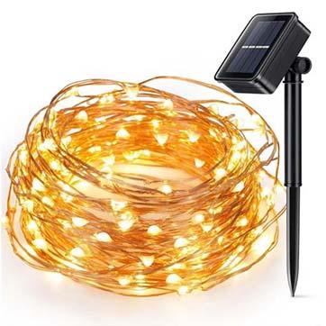 соларна енергија бакар жица стринг светлина